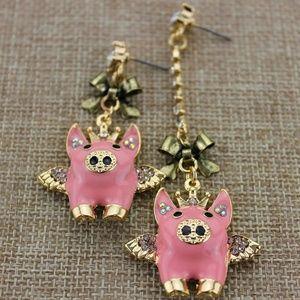 Jewelry - Cute Pink Pig Earrings